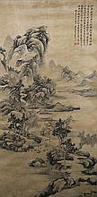 Chinese Watercolor Landscape Xi Gang 1746-1803
