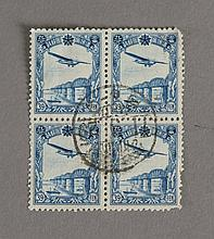 4 Stamps of Man A.2 2nd Print Air Mail  Issue