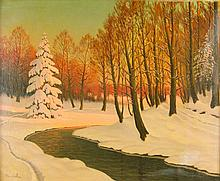 Victor Emanuelov Oil on Canvas Russia 1884-1940