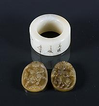 3 Pieces of Jade Carved Pendants