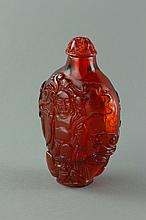 Chinese Carved Amber-Like Snuff Bottle