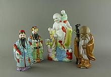 4 Pieces Chinese Immortal Porcelain Figures