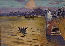 Konstantin Matveevich Lomykin Oil on Board 1924-1994