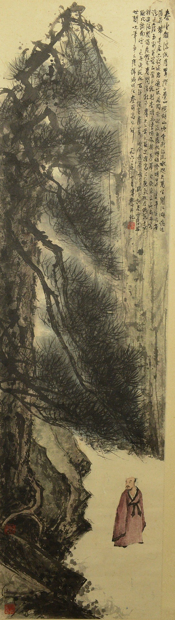 Chinese Fu Baoshi Style of Painting