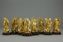 Ming Period Ivory Figures Eight Immortals