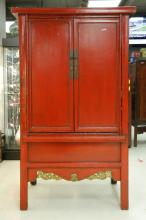 Large 1800's Northern China Two-Door Wood Cabinet