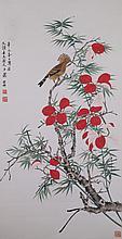 Chinese WC Bird & Flowers Xie Zhiliu 1910-1997