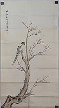 Chinese Watercolour of Bird Ni Tian 1855-1919