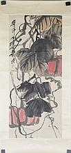 Chinese Watercolour Vegetable Painting Qi Baishi