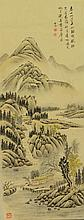 Watercolour Painting of Landscape Signed Qi Gong