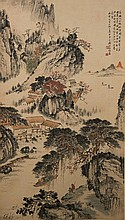 Painting of Chinese Village Signed Qian Song Yan
