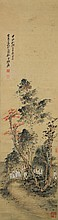Chinese Painting of Scholars Signed Zhang Da Qian