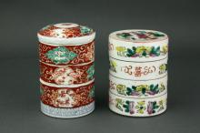 2 Pieces of Chinese Porcelain Step Boxes