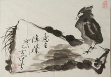 Chinese Ink Painting on Paper Style of Fan Zeng