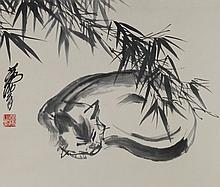 Chinese Cat Painting Signed Huang Zhou 1925?1997