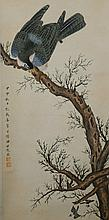Chinese Hawk on Branch Tian Shiguang 1916-1999