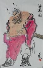 Chinese Guan Gong Painting Signed and Sealed