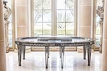 FRENCH STEEL SEAFOOD SERVING TABLE