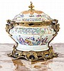 GILT-BRONZE MOUNTED CHINESE PORCELAIN POT-POURRI VASE