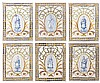 SET OF SIX SPANISH/PORTUGUESE TILE PLAQUES