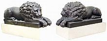 PAIR CAST IRON _ENGLISH_ LIONS