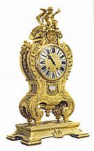 LOUIS XIV STYLE GILT BRONZE MANTLE CLOCK