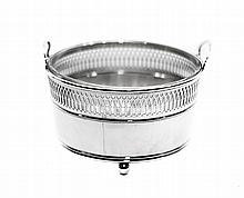 TIFFANY & CO. GLASS AND SILVER ICE PAIL