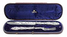 VICTORIAN SILVER CARVING SET