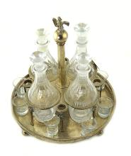 A FRENCH SILVER DECANTER STAND