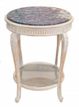 NO RESERVE FINE MARBLE TOP TABLE