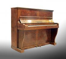 ART-DECO STYLE WALNUT UPRIGHT PIANO, Chappell & Co.,