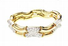 18 KARAT GOLD AND DIAMOND BRACELET