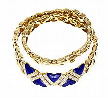 FRED GOLD, LAPIS, AND DIAMOND NECKLACE