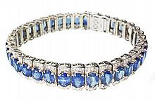 SAPPHIRE AND DIAMOND 'STRAIGHT LINE' BRACELET