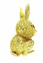 TIFFANY & CO. GOLD ???BUNNY??? BROOCH