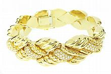 PIAGET 18 KARAT GOLD AND DIAMOND BRACELET