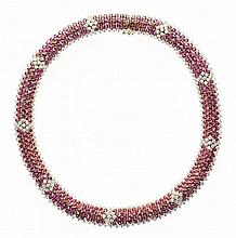 FINE RUBY AND DIAMOND NECKLACE