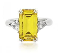 DIAMOND RING GIA CERTIFIED 6.54 CARAT