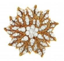 LARGE DIAMOND BROOCH OVER 20 CARATS OF DIAMONDS