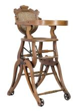 AMERICAN RENAISSANCE CHILD'S HIGHCHAIR, circa 1870