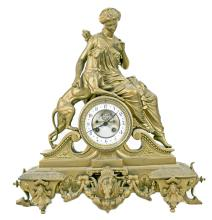 RENAISSANCE REVIVAL GILT METAL CLOCK
