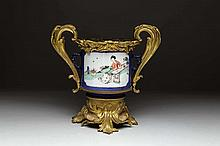 LOUIS XV STYLE ORMOLU MOUNTED CHINESE PORCELAIN VESSEL