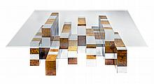 Paul Evans Burlwood and Chrome Directional Cityscape