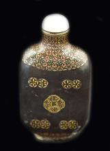 A LACQUER SNUFF BOTTLE, JAPANESE