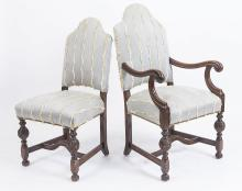 SIX LOUIS XIII STYLE CHAIRS