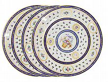 17-PC ROYAL CROWN DERBY å´SEVRES? STYLE PLATES