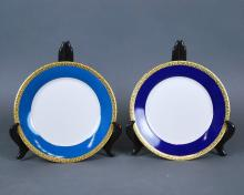 TWO ROYAL GALLERY GOLD BUFFET PORCELAIN PART SERVICES