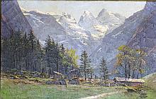 CONTINENTAL SCHOOL (19TH CENTURY) 'ALPINE LANDSCAPE'