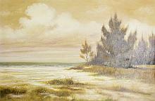 "FRANK HAWKINS, ""ST. PETERSBURG "" OIL ON CANVAS"