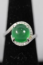 A Chinese JadeStone Ring